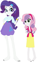 Equestria Girls Rarity and Sweetie Belle by ChipmunkRaccoon2