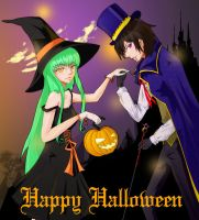 Halloween 08 - CC + Lelouch by eltania