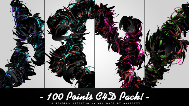 [C4D Pack] 15 Twirl C4D's by aaa13xxx