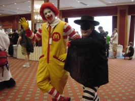 Ronald McDonald and Burgler. by DiRK-