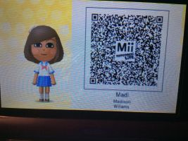 Me in TomoDachi Life (With QR Code!) by CrystalSylveon