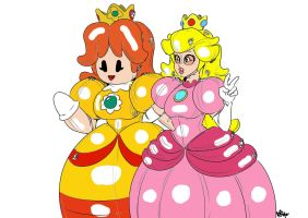 Rubber Peach and Daisy Colored by Dr-Scaphandre