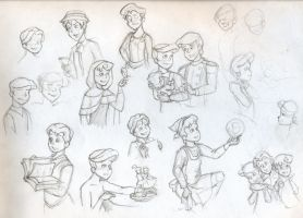 Disney GenderBender Sketches by xaykocys