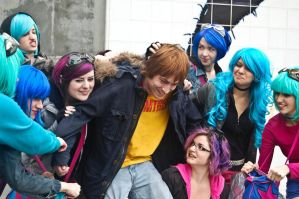Scott Pilgrim Harem 4 by spritepirate