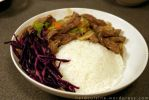 Chinese style beef stew with red cabbage by oskila