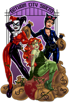 Gotham City Sirens - In the Money by SnowFright