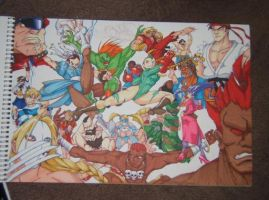 street fighter collage by ClydeBob