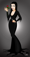 the sims social Morticia addams by CaraStyle