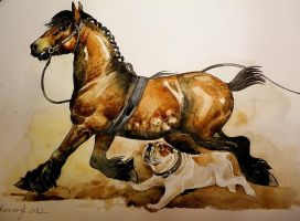 draft horses's fear by dashket