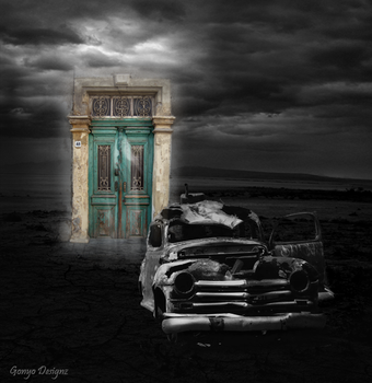 Door on a doomsday -BW edition by Gonyo