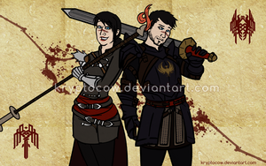 DAII: Two Hawkes by kryptocow