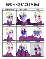 blushing faces meme(OT) by Bunnymuse