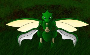 Scyther Forest Pose A by Yamitora1
