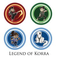 Japan Expo - Legend of Korra Buttons by coda-leia