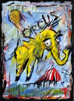 Circus Elephant by SingYourLife