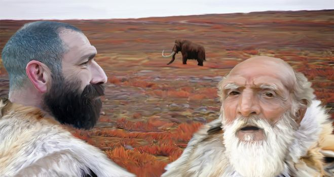 Neanderthal Father and Son by PhilipEdwin