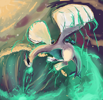 Lugia Used WaterFall by LizardonEievui13