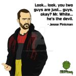 Jesse Pinkman - Mr White is the devil by Vecthand