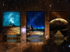 Wallpaper - 3 Space Scenes by emailandthings