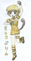 Mew Purin in colour by FreeAllAngels