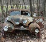 old rusted car by aila-art