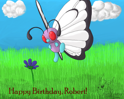Butterfree present by GoldFlareon