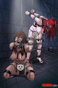 Dungeon Dames 1: Korra and Erza by halocat2