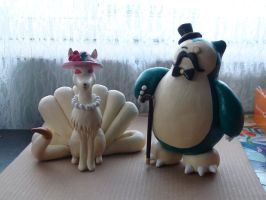 Miss Ninetales and Sir Snorlax
