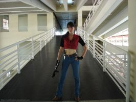 Claire Redfield in the Lab by An0therSide