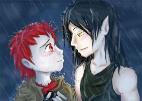 Chack - Caught in the Rain by Phantom--Wolf