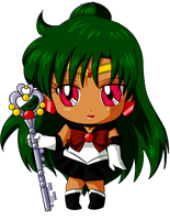 Commission: Chibi Sailor Pluto for Katie0513 by MrSniffy