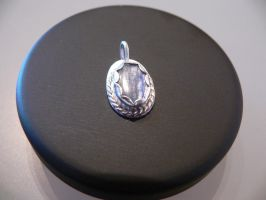 silver pendant with kyanit by irineja