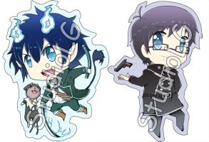 Set3 Ao no Exorcist Key-chain by StudioLG