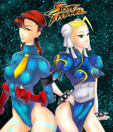 Chun Li and Cammy White by Arev-San