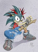 Retro- the 80s rocker hedgehog by Equilus123