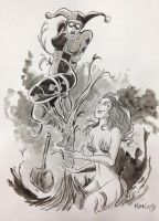harley and poison ivy by BoldFacedComics