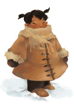 Little Inuit Girl by Dreamsoffools
