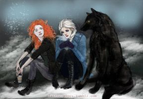 Crossover: Brave, Frozen and Ouat by plastic-pipes