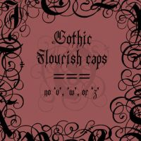 Gothic Flourish init by rL-Brushes