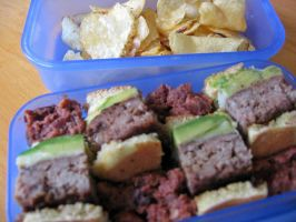 Hamburger Bento by sake-bento