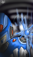 Ready to Fire Megaman [X] by elrixz