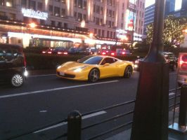 Yellow horse in Japan by NissanGTRFan