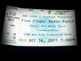 Five Finger Death Punch by ffishy21