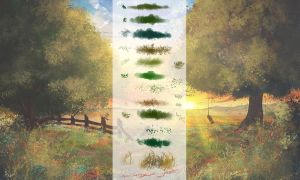 Vegetation Brushes for Photoshop by alwaysdaydreams