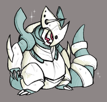 Shiny Mega Aggron by Coloursfall