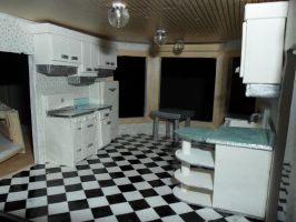 Retro Dollhouse WIP: Kitchen's left side by kayanah