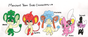 PMD-Sibling Band- Side Characters by SapphireMiuJewel