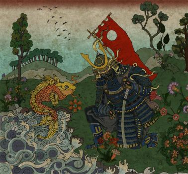 samurai and the fish by mahlukat