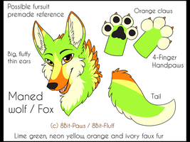 Possible premade ref! Maned Wolf by TrelDaWolf