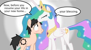 Connor receives Celestia's Blessing by Ceehoff